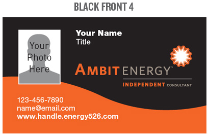 Mpower team ambit energy business cards wajeb
